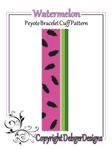 Watermelon - Beaded Peyote Bracelet Cuff Pattern   DebgerDesigns - Patterns on ArtFire
