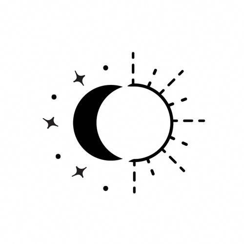 Tattoo Inspiration Geometrictattoos Tatuaje Sol Y Luna Tatuaje De Sol Sol Y Luna Juntos
