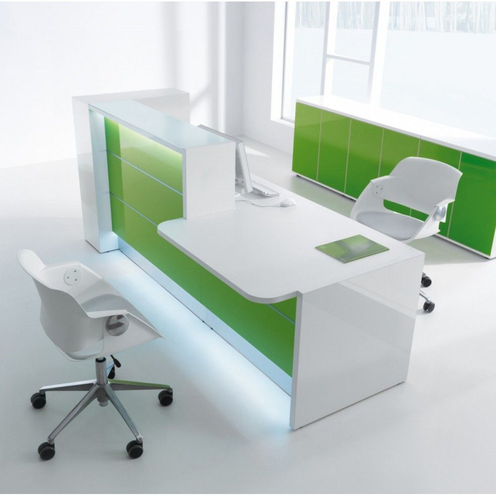 Valde Countertop Linear Reception Desk | Modern reception desk in ...