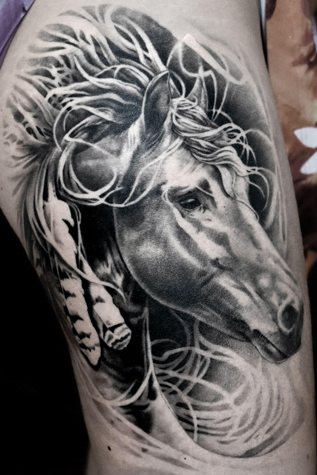 Beautiful Horse Sleeve Tattoo Horse Tattoo Tribal Horse Tattoo Horse Tattoo Design