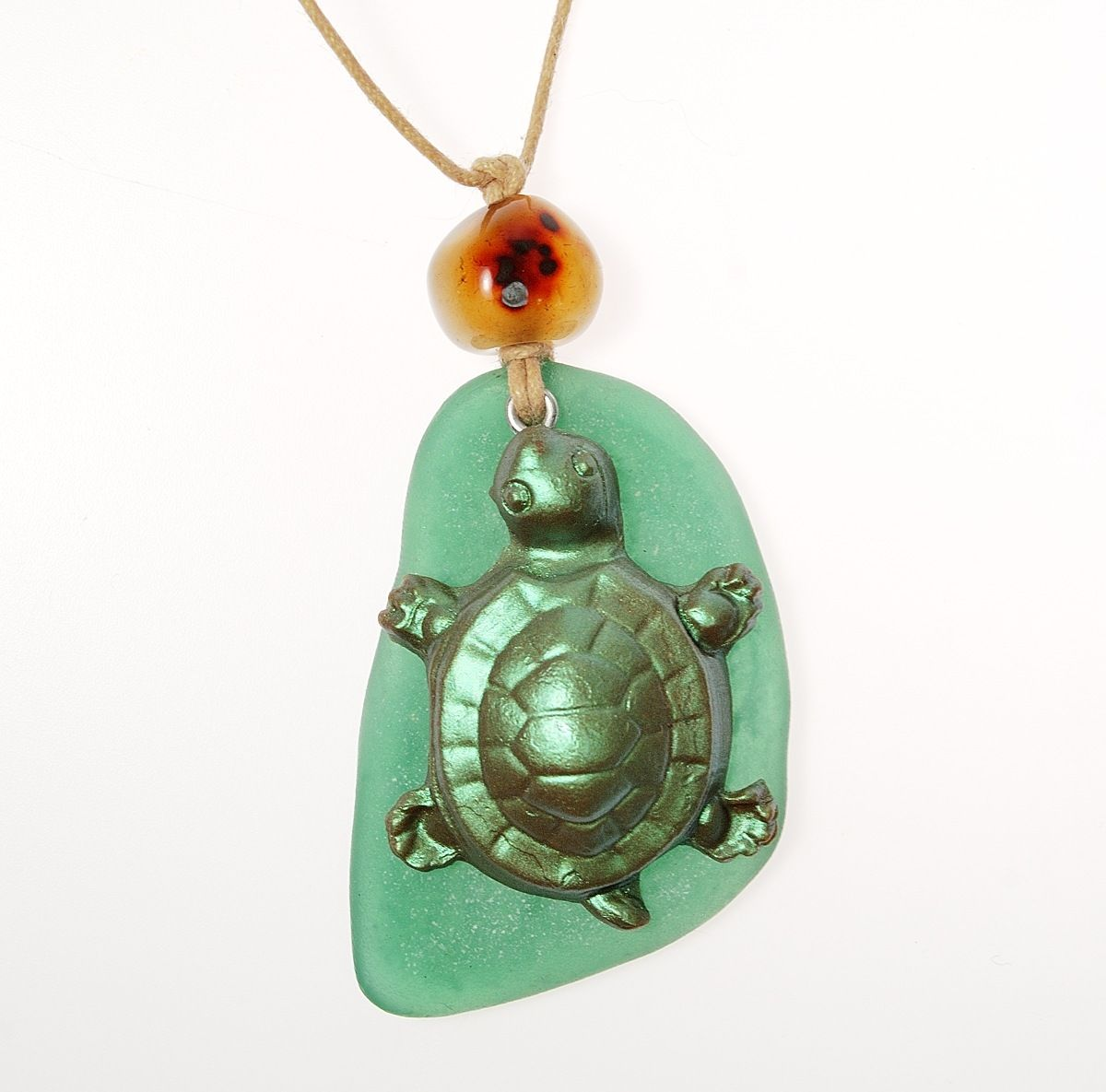 This turtle pendant is made from polymer clay and yes that is this turtle pendant is made from polymer clay and yes that is polymer clay faux sea glass polymer clay pinterest mozeypictures Images