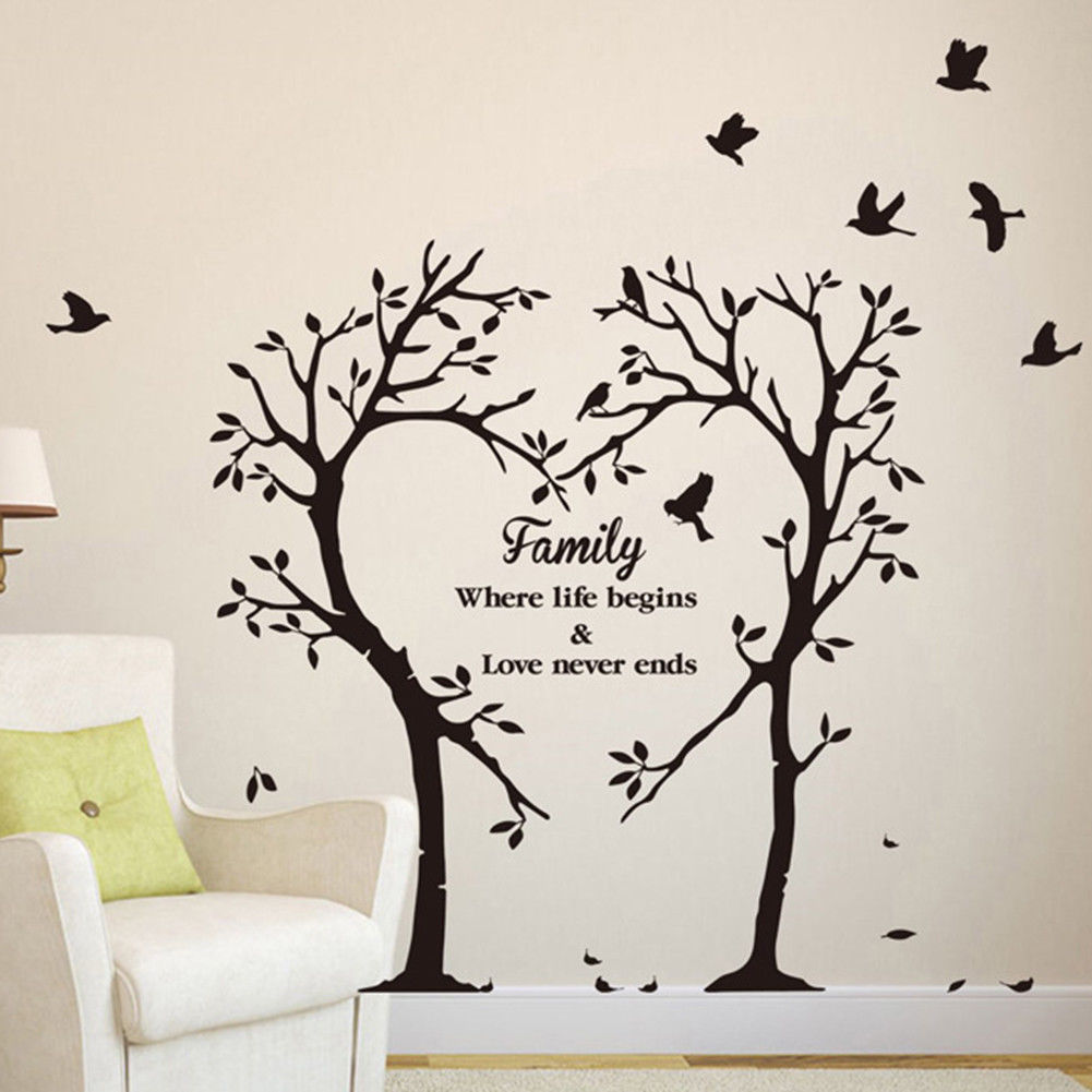 3 39 gbp family letter heart tree removable vinyl decal on wall stickers id=29376