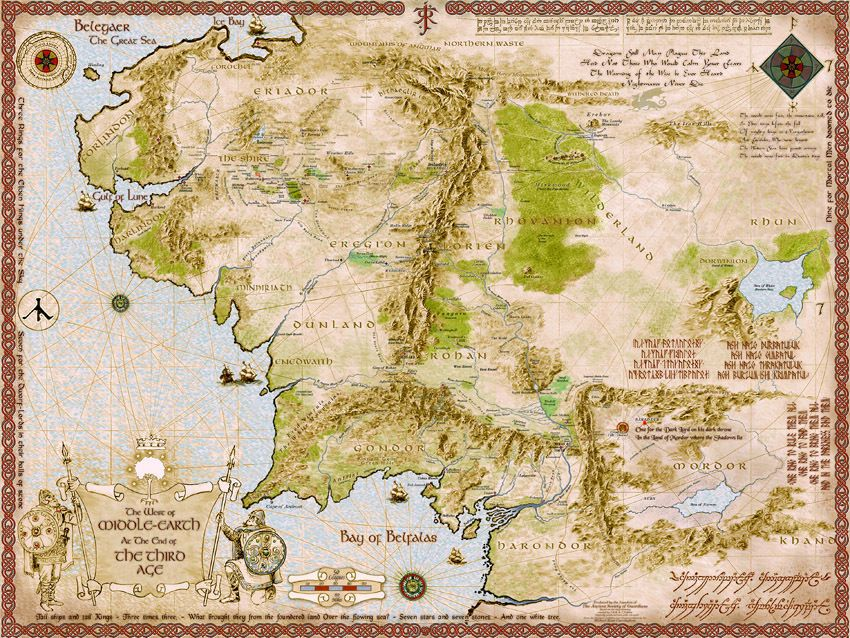 Lord of the Rings Middle Earth Map an art print by Francesca – Lord of the Rings Detailed Map