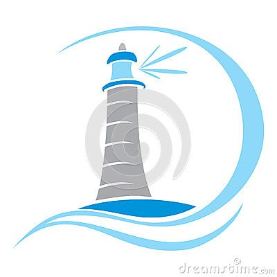Lighthouse symbol   Nautical Silhouettes, Vectors, Clipart ...