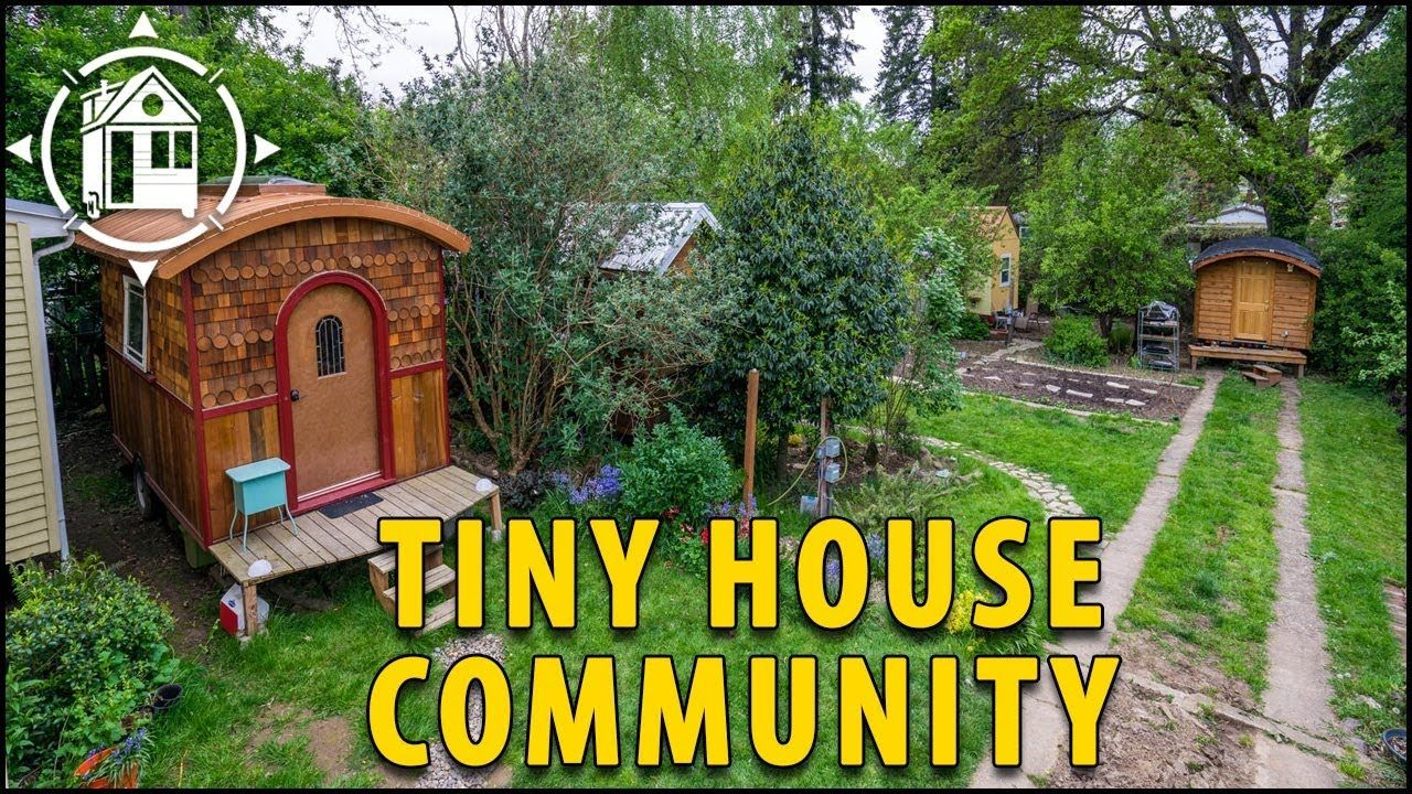 this tiny house community is located in portland oregon for rh pinterest com