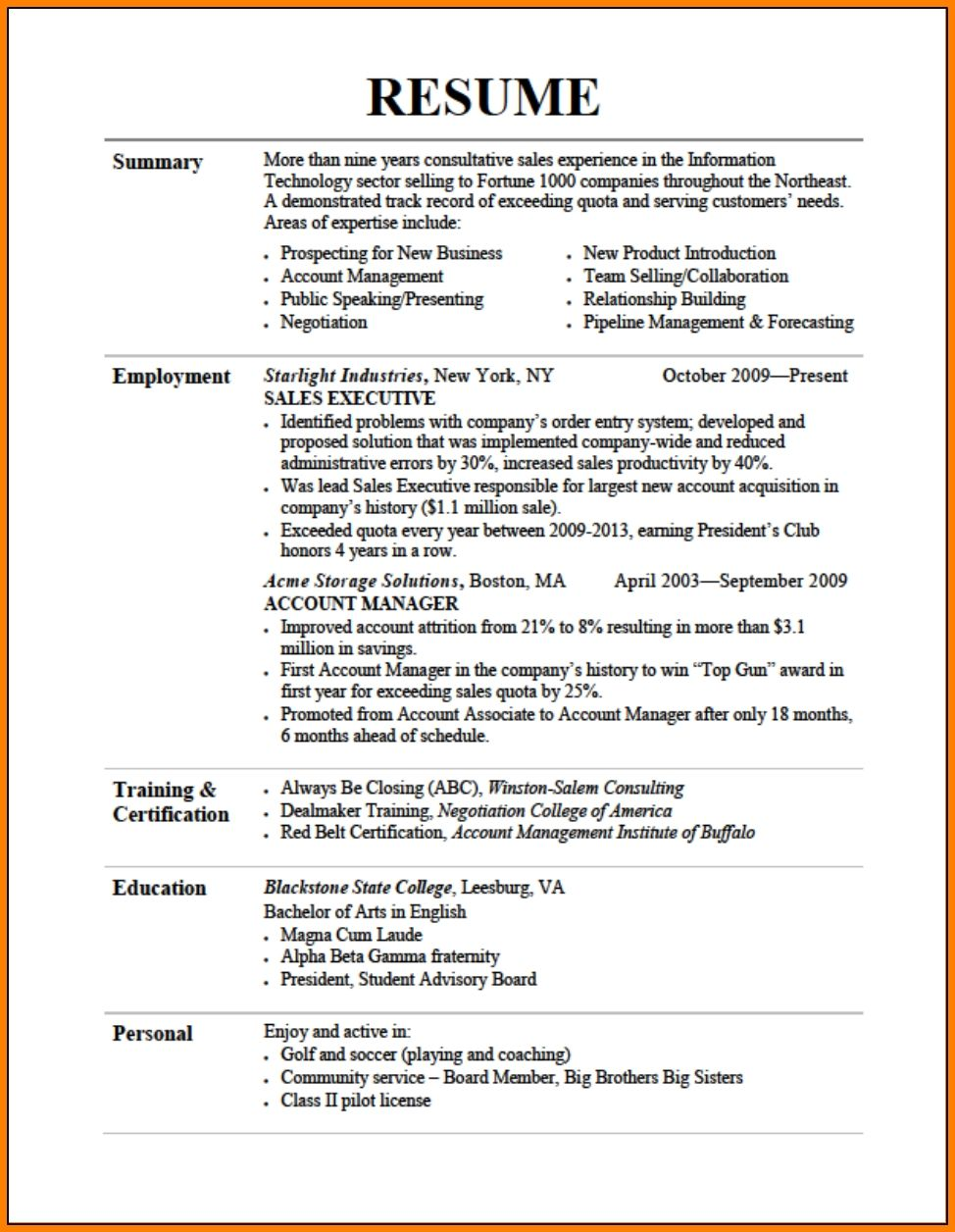 Resume Formatting Tips Job Resume Examples Good Resume Examples
