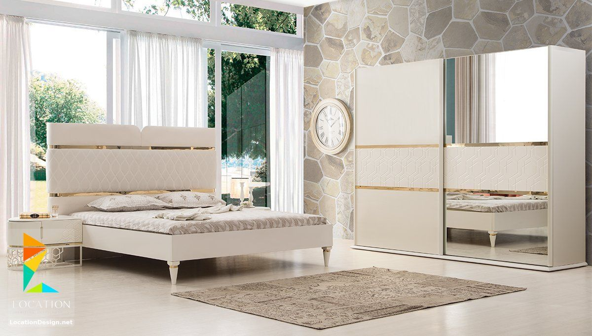 ديكورات غرف النوم الرئيسية 2019 2020 Master Bedroom لوكشين ديزين نت Beige Bedroom Set Bedroom Furniture Design Bed Furniture Design