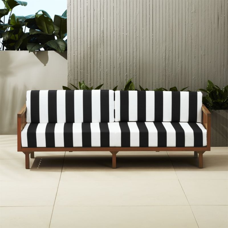 tropez black and white stripe sofa new place striped sofa white rh pinterest com