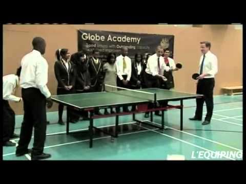 barack obama playing ping pong with david cameron youtube table rh pinterest com