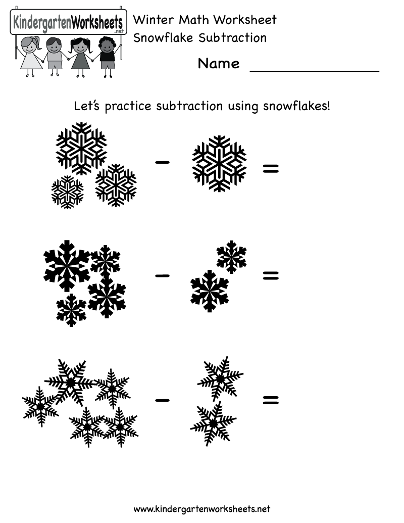worksheet Snowflake Worksheets kindergarten math worksheets addition winter worksheet free holiday for kids
