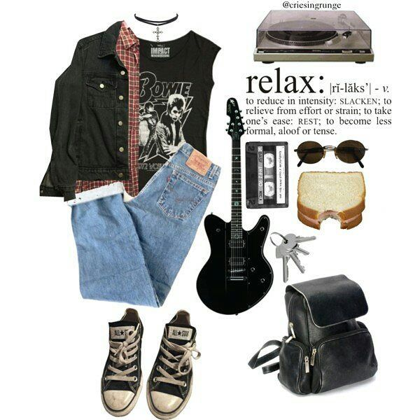 #grunge #rock #altermative #punk #outfit #urban #style -A