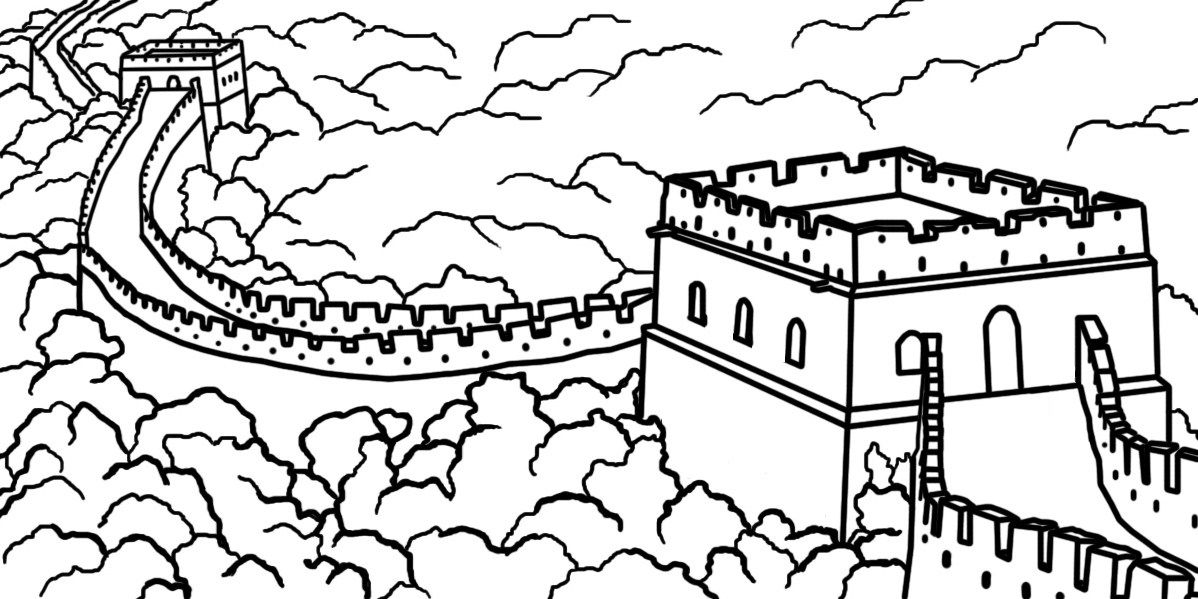Education Ancient China Coloring Page Coloring Pages To Print Great Wall Of China Chinese New Year Crafts Coloring Pages