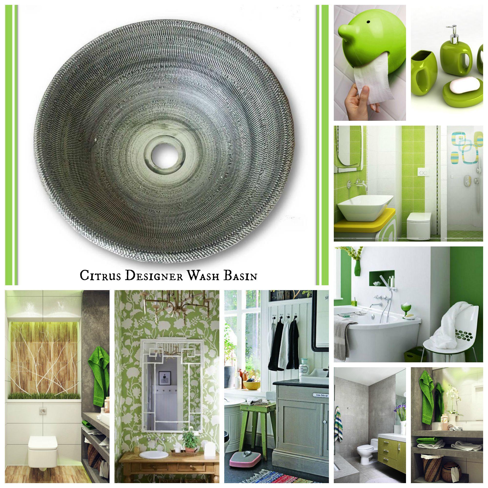 for a green white and grey combination of bathroom citrus designer rh pinterest com