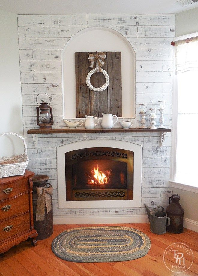Master Bedroom Fireplace Makeover - you should see the before pics! Amazing transformation!