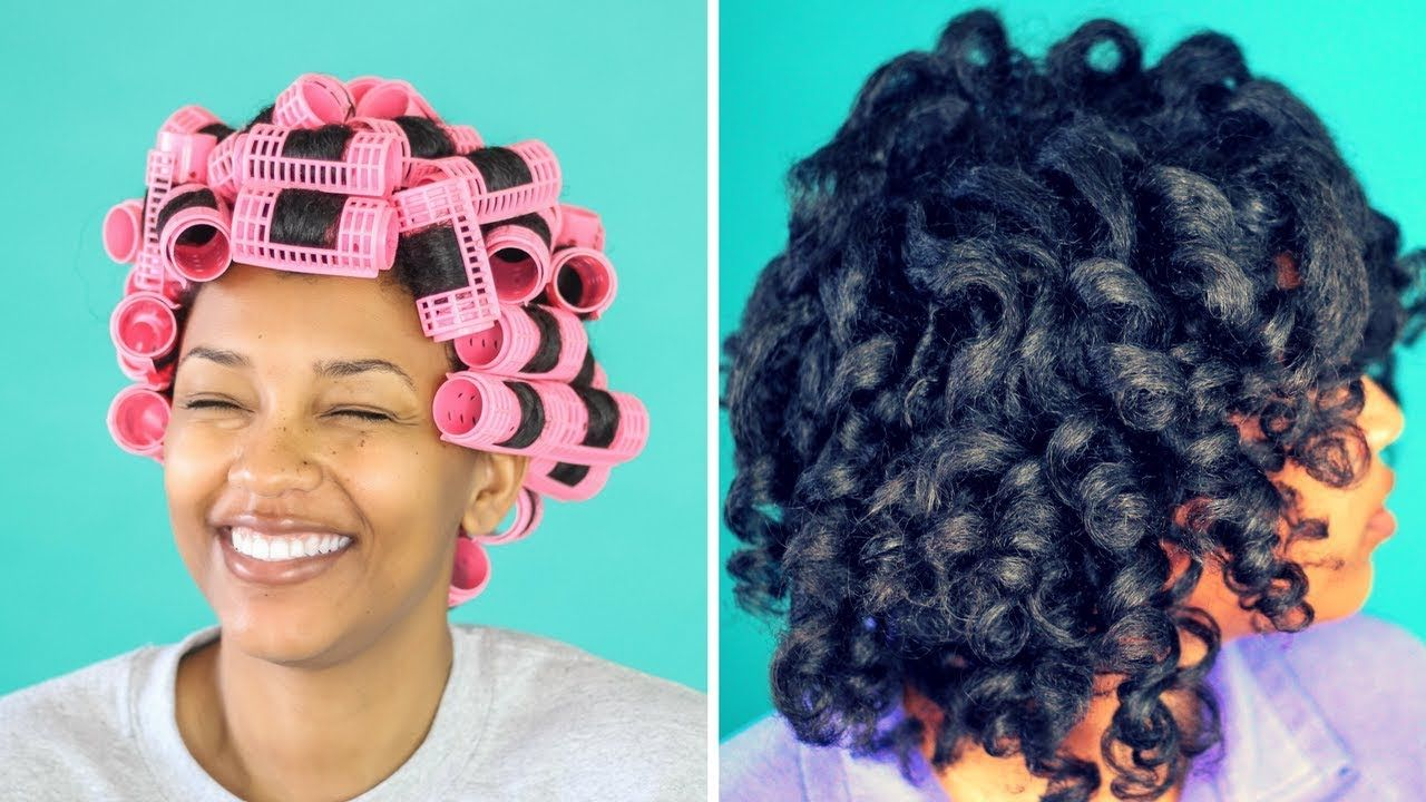 Magnetic Roller Set On Natural Hair Honestlyerica Roller Set Hairstyles Roller Set Natural Hair Natural Hair Styles