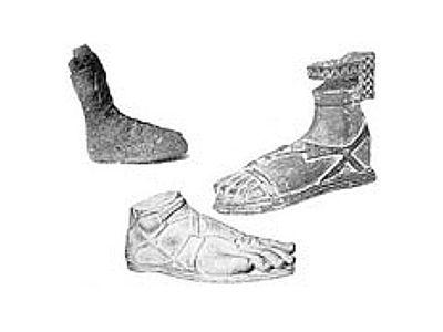Ancient Greek footwear- Found in the temple of Artemis in ...