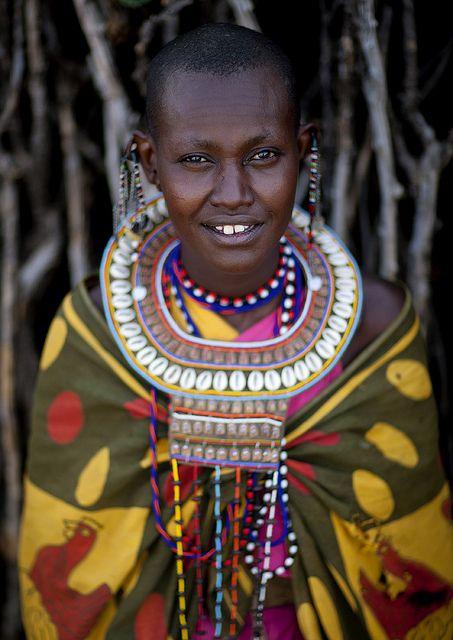 Maasai woman in traditional clothes - Kenya | Traditional clothes Eric lafforgue and Kenya