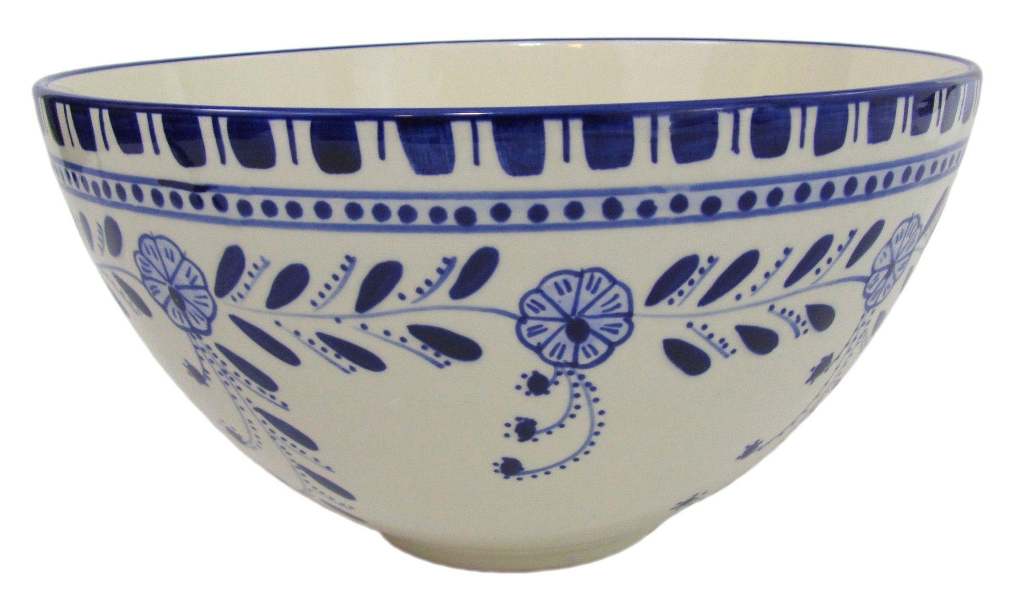AzouraDeep Stoneware Salad Bowl