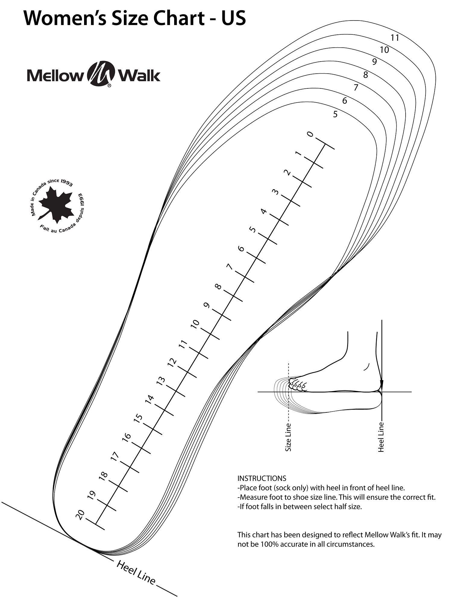Pin By Kiaama Spearman On Shoe Size Chart