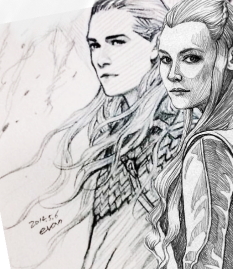 Legolas and Tauriel - evankart | Hobbit ❤ | Pinterest | Hobbit ...