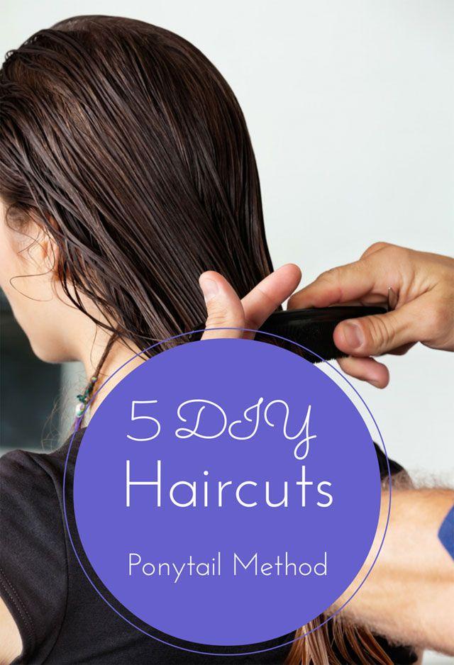 diy ponytail haircut for medium length hair 5 diy haircuts to try today diy haircut ponytail