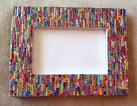 Picture Frame Colorful Handmade Original 4x6 Gift