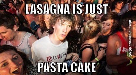 Never saying lasagna again...