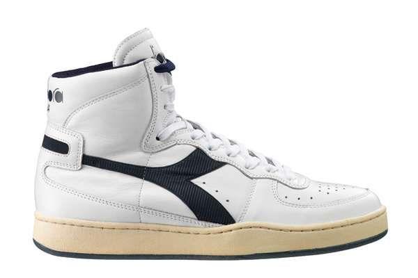 25112e349de5d The Mi Basket 84 Sneaker by Diadora Takes After 1980s Basketball Shoes # shoes #footwear trendhunter.com