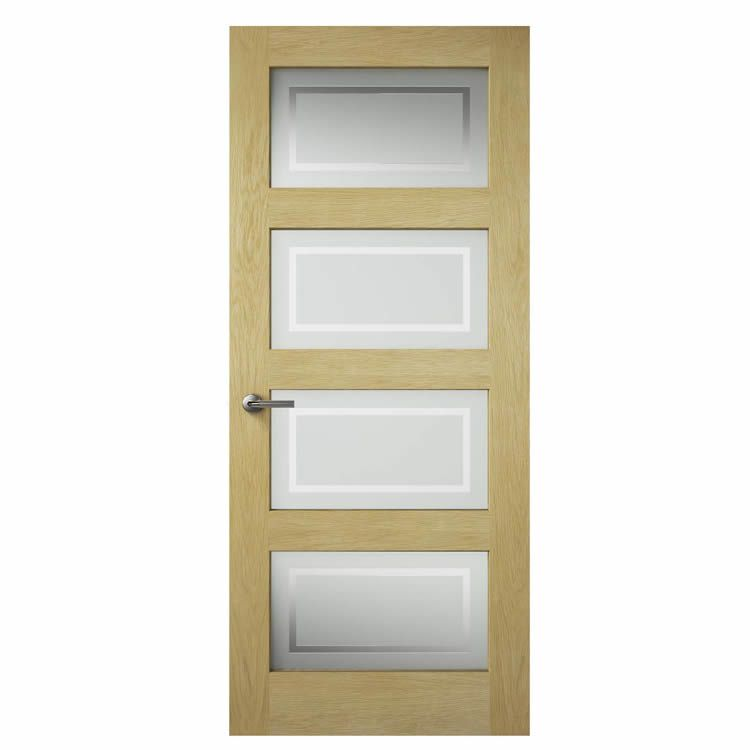 Premdor Shaker Oak Glazed Internal Door Next Day Delivery Premdor