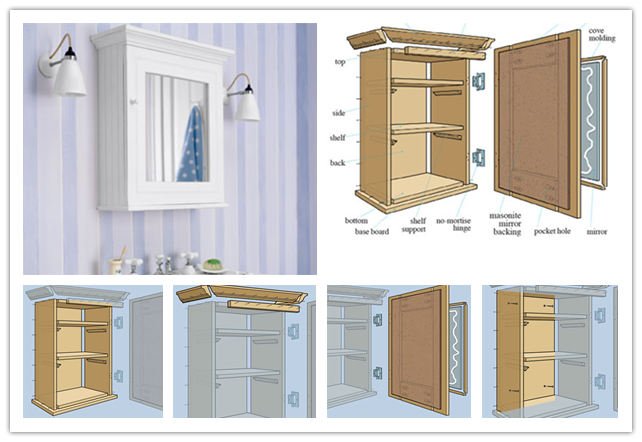 How To Build A Wall Mount Medicine Storage Cabinet Unit With