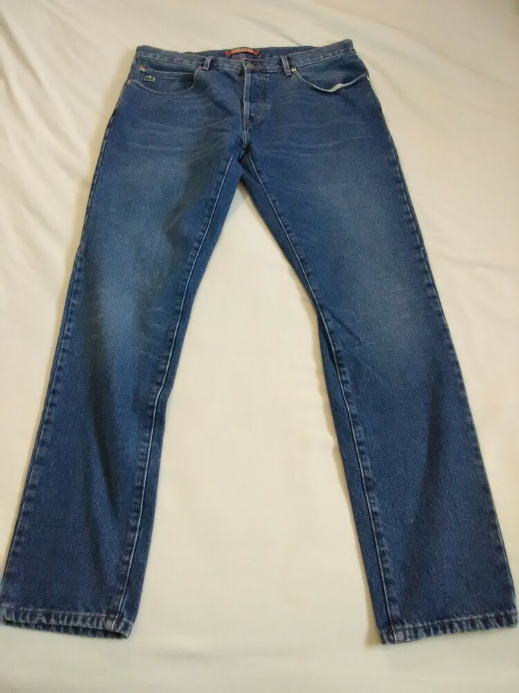 6ecf0d4d Men's Lacoste Size 36x32 Blue Jeans. 4 Button Front #fashion ...
