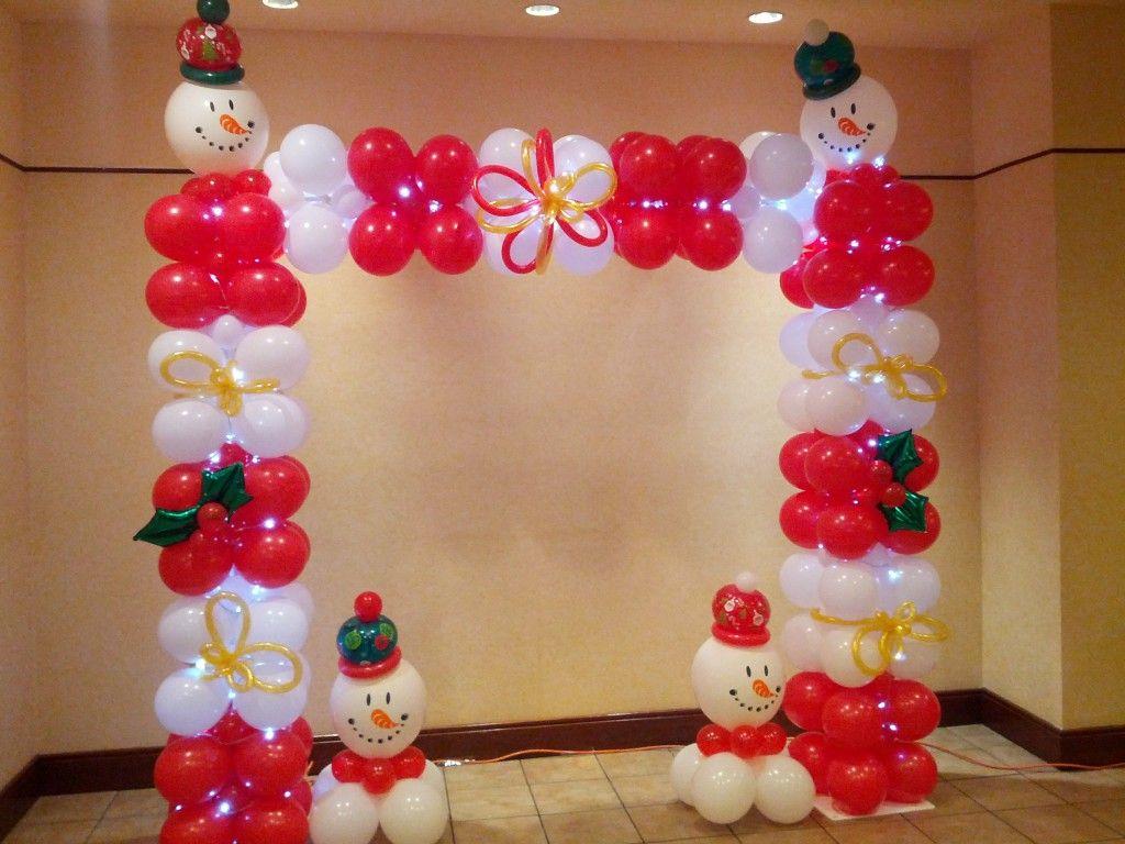 Christmas theme balloon arch 2013 christmas party ideas for Decoration balloon