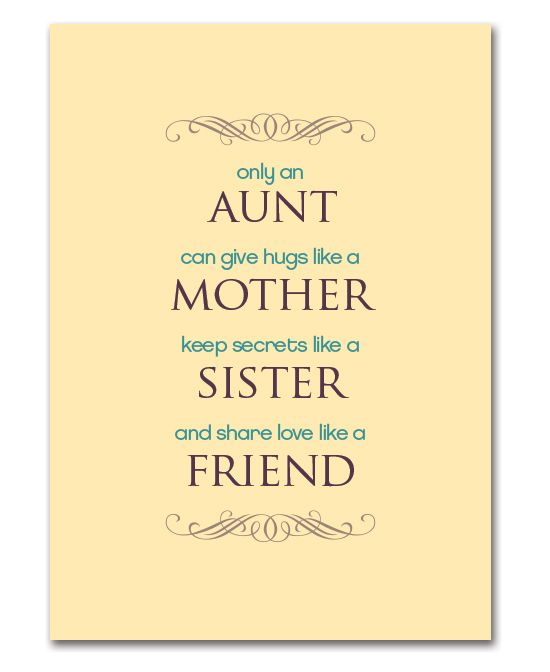 Mother S Day Printable For Aunts Aunt Quotes Happy Mother Day Quotes Family Quotes
