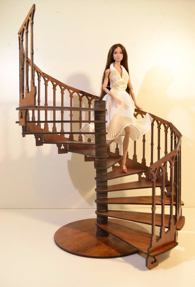 Best Gothic Spiral Staircase With Handrail Stair 1 6 Barbie Fr 640 x 480
