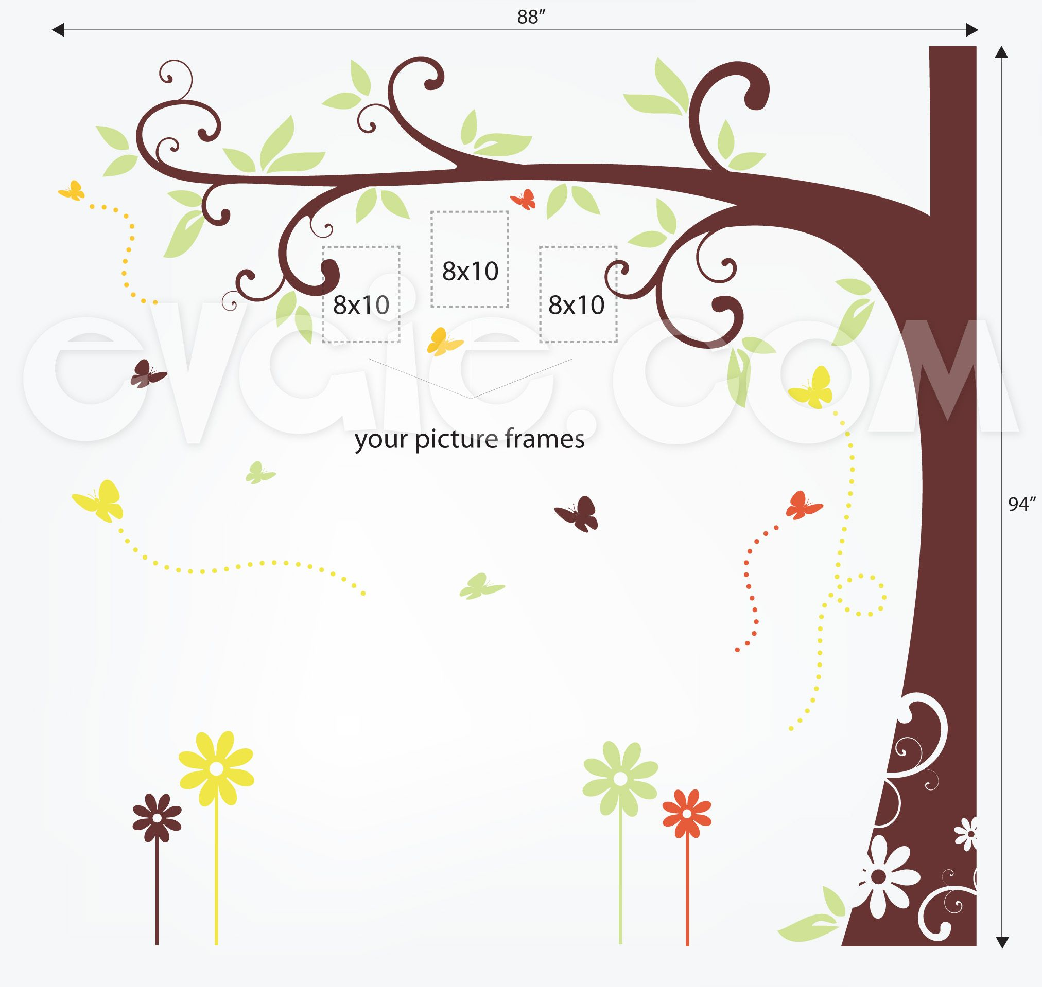 Family Tree Wall Decal For Picture Frames EvgieNev Church - Wall decals for church nursery