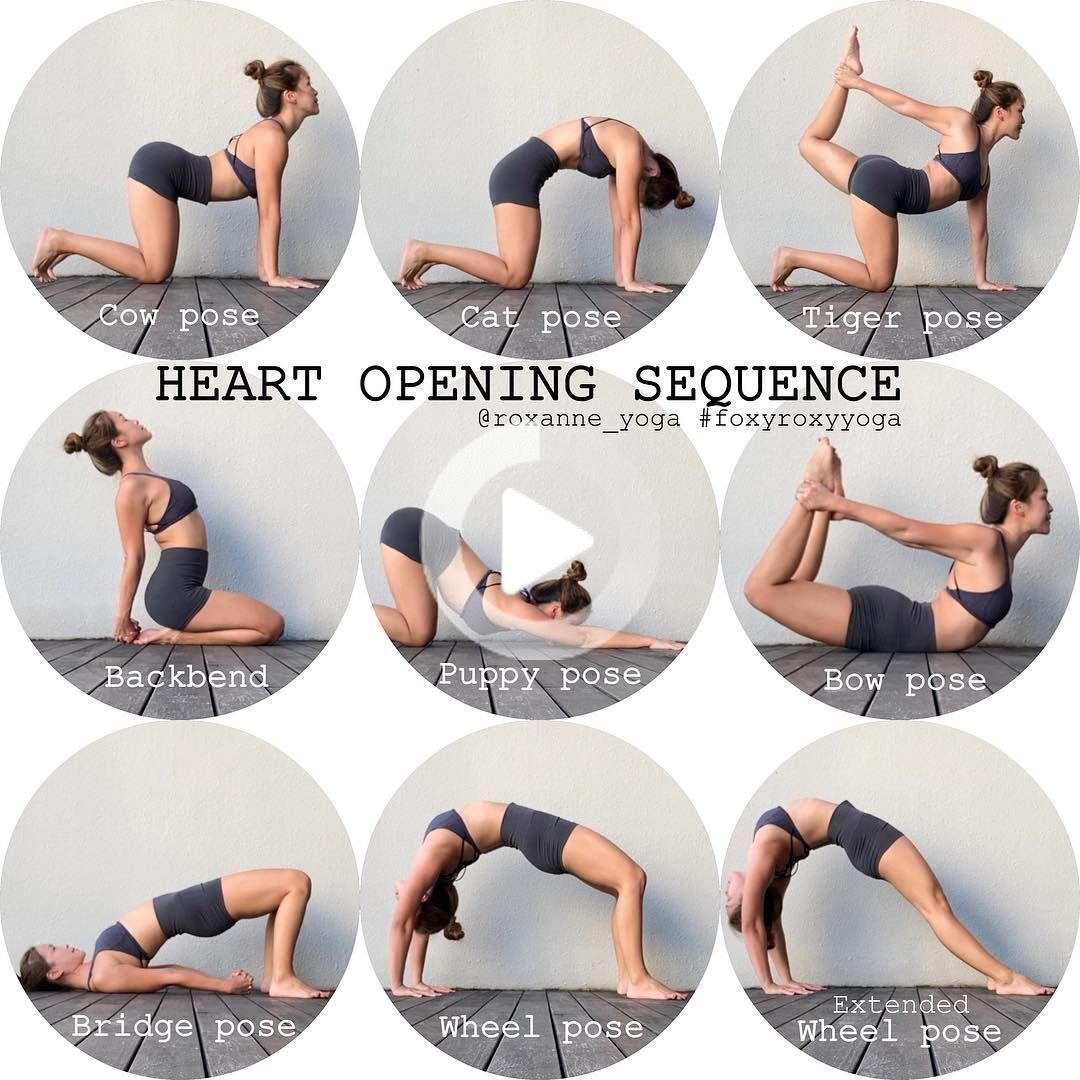Roxanne Gan On Instagram Heart Opening Sequence Great For Stretching The Chest Opening Up The Shoulders An Yoga Postures Easy Yoga Workouts Yoga Seque Yoga Postures Hatha Yoga Yoga Help