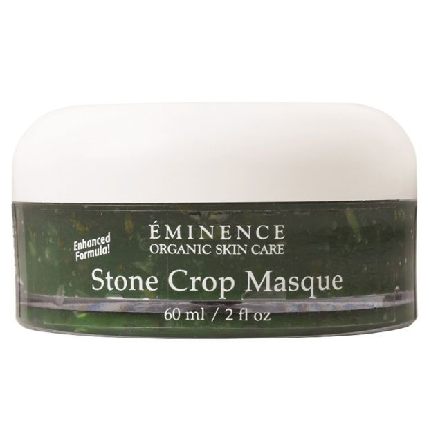Éminence Stone Crop Masque. http://beautyeditor.ca/2016/07/07/how-to-prevent-dry-skin-acne-when-flying