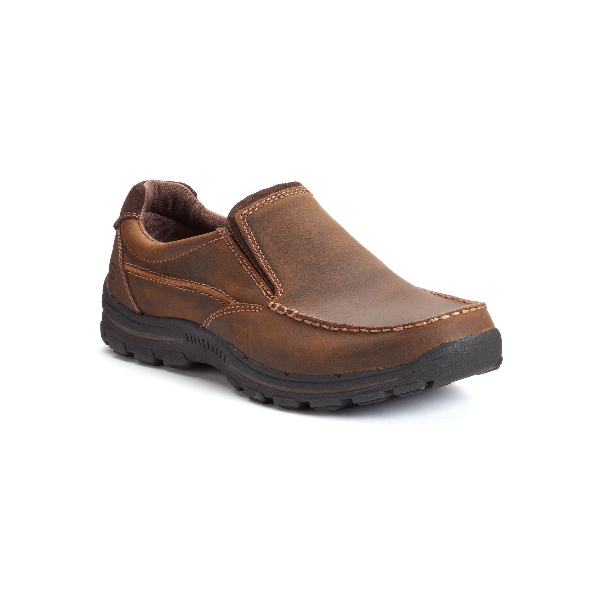 skechers relaxed fit braver men's slip-on shoes