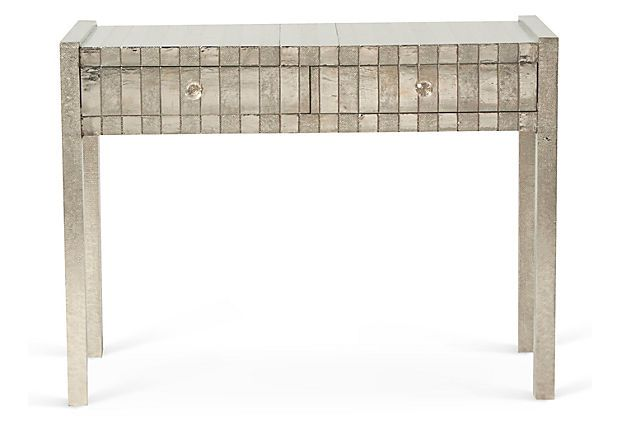 One Kings Lane - Reorganize Your Rooms - Hammered Metal Console