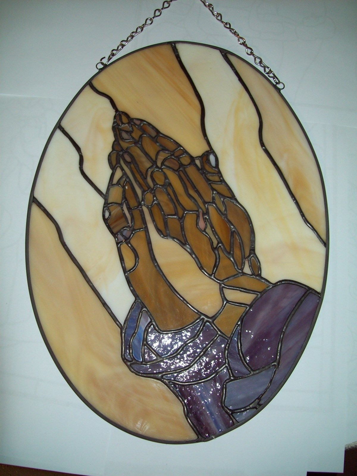 Stained Glass Lpraying Hands - Ebay