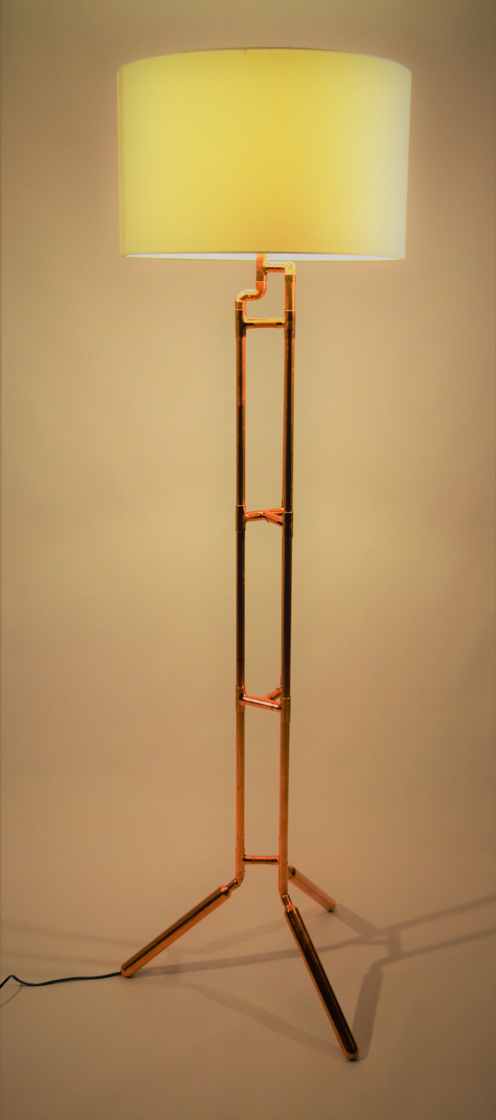 Tri Tube Tower Lamp An Atd Copper Creations Ltd Original Copper Tube Lamp Design Lamp Design Lamp Copper Floor Lamp