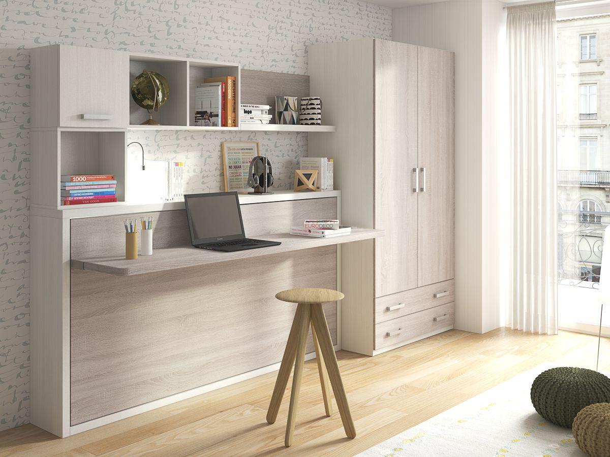 Mobiliario juvenil cama abatible con mesa incorporada de la firma pinterest pamplona and - Decoracion pamplona ...