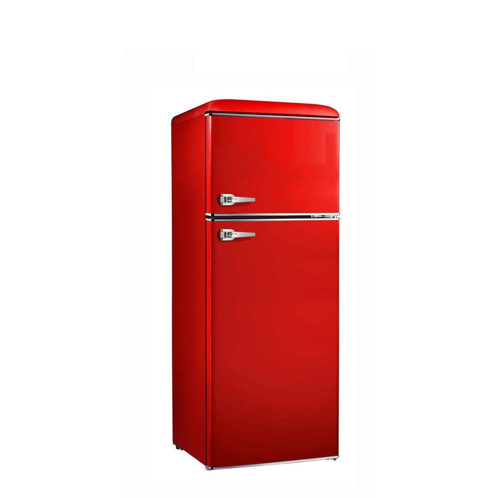 Home Depot Fridges Canada Galanz 7 6 Cu Ft Mini Retro Fridge In Red Bcd 215v 62h Fantasy