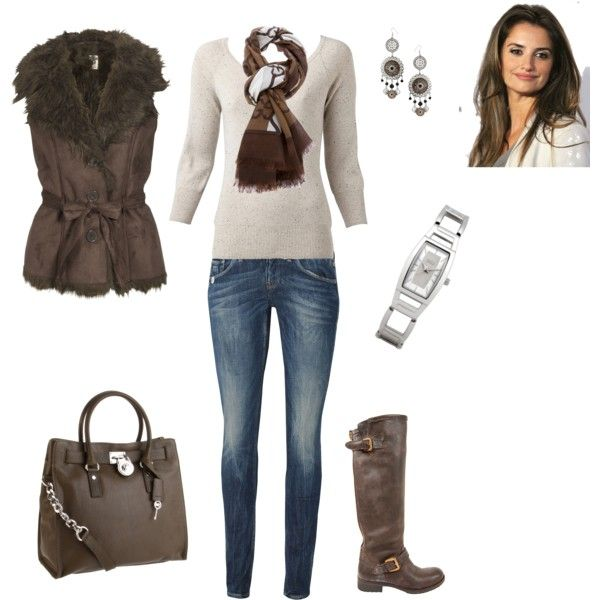 """Brown!"" by romigr99 on Polyvore"