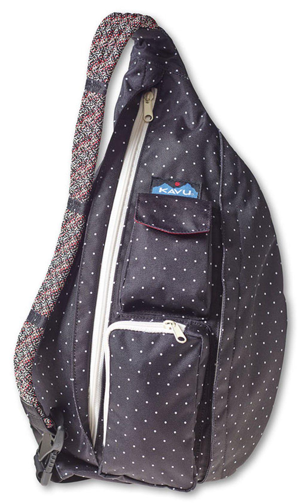 KAVU Rope Sling Bag, BW Dots, One Size Kavu