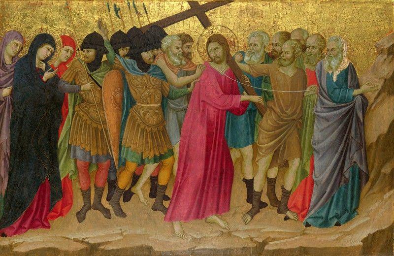 Уголино ди Нерио - Алтарь из Санта Кроче - Путь на Голгофу. Часть 6 Национальная галерея