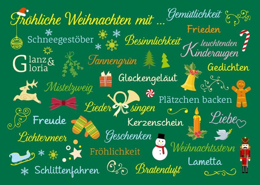 Alles was an Weihnachten dazugehört #weihnachtskartenspruch