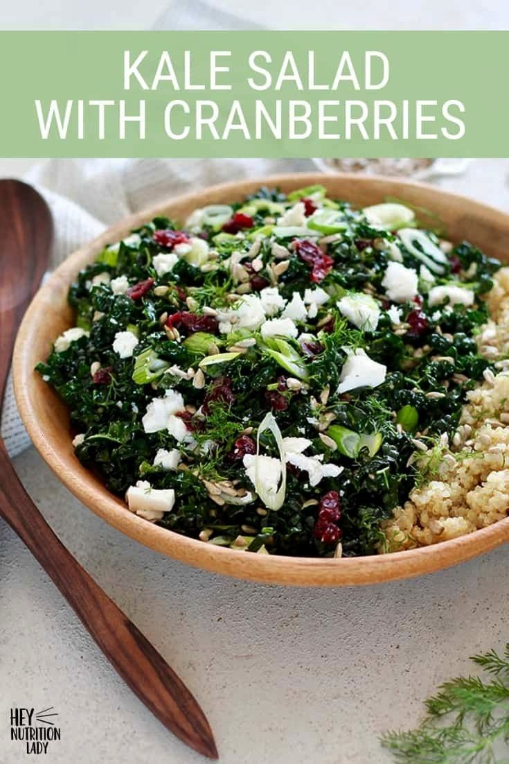 Kale Salad With Cranberries This easy Massaged Kale Salad with Cranberries is made with sweet Tusca