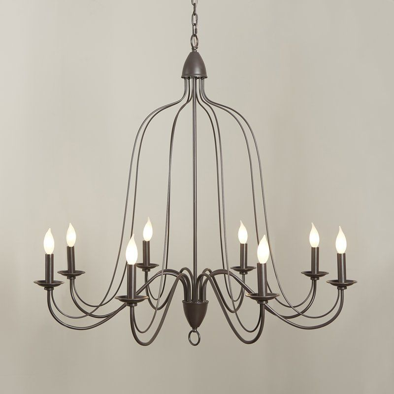 Hatfield 8 Light Candle Style Chandelier Reviews Birch Lane
