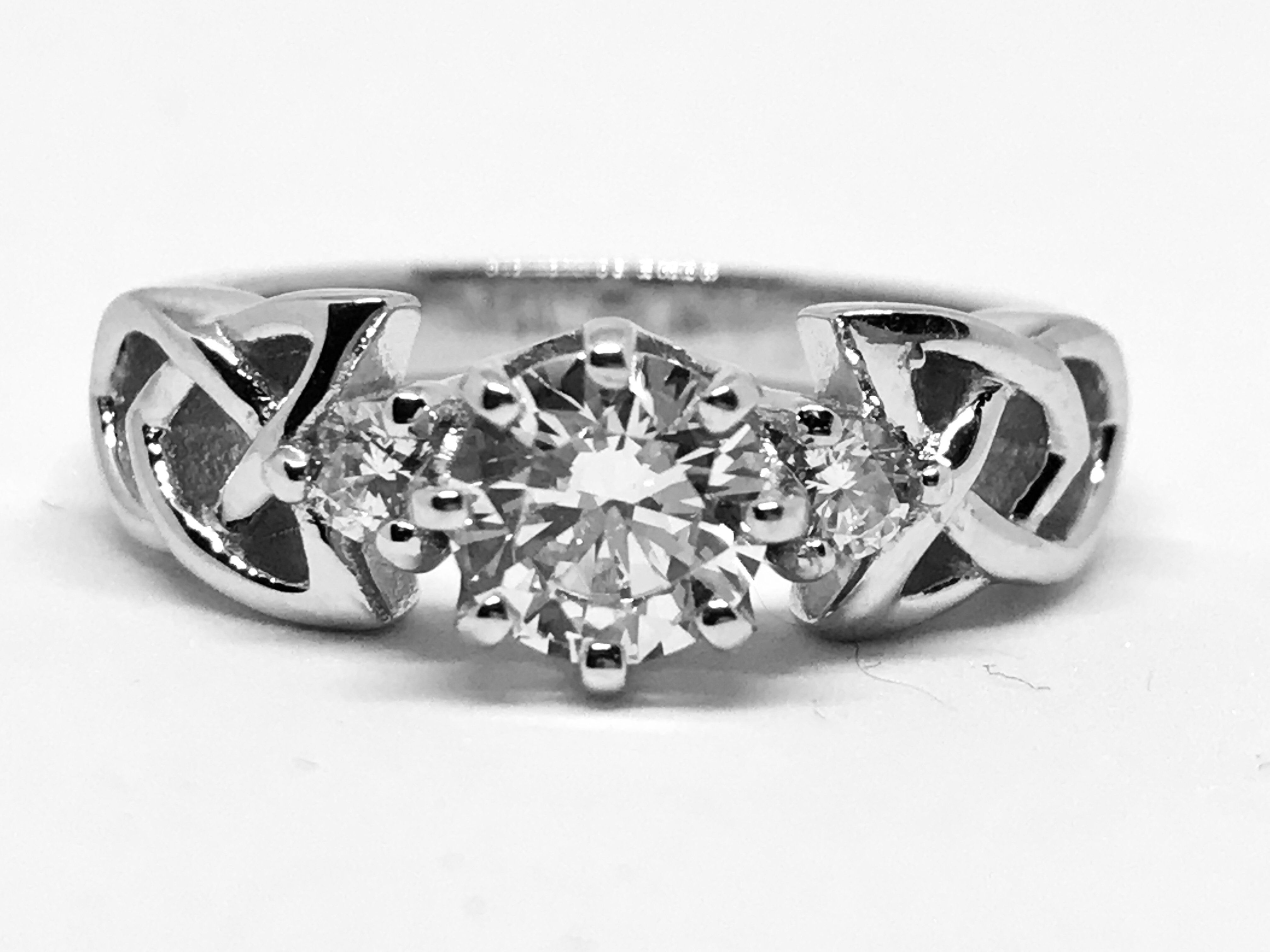 A Perfect Celtic Knot 1CT Round Cut Russian Lab Diamond Ring | Lab ...